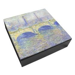 Waterloo Bridge by Claude Monet Leatherette Keepsake Box - 3 Sizes