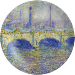 Waterloo Bridge by Claude Monet Melamine Plate - 8""