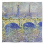 Waterloo Bridge by Claude Monet Large Microfiber Dish Rag