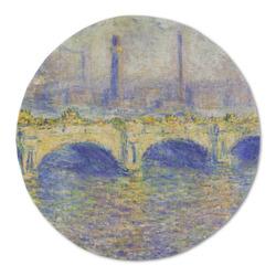 Waterloo Bridge by Claude Monet Round Linen Placemat