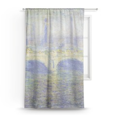Waterloo Bridge by Claude Monet Sheer Curtains