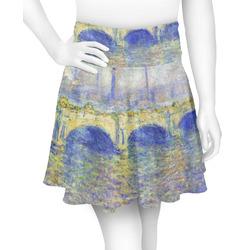 Waterloo Bridge by Claude Monet Skater Skirt