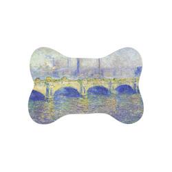 Waterloo Bridge by Claude Monet Bone Shaped Dog Food Mat (Small)