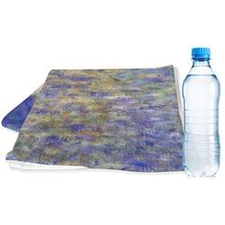 Waterloo Bridge by Claude Monet Sports Towel