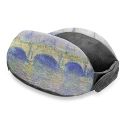 Waterloo Bridge by Claude Monet Travel Neck Pillow