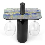 Waterloo Bridge by Claude Monet Wine Bottle & Glass Holder