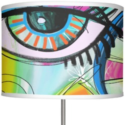"Abstract Eye Painting 13"" Drum Lamp Shade"