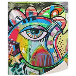 Abstract Eye Painting Sherpa Throw Blanket