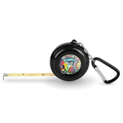 Abstract Eye Painting Pocket Tape Measure - 6 Ft w/ Carabiner Clip