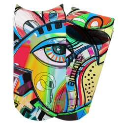 Abstract Eye Painting Adult Ankle Socks
