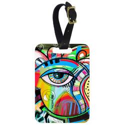 Abstract Eye Painting Metal Luggage Tag