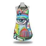 Abstract Eye Painting Apron