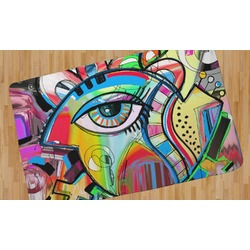 Abstract Eye Painting Area Rug