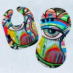 Abstract Eye Painting Baby Bib & Burp Set