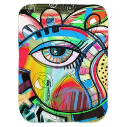 Abstract Eye Painting Baby Swaddling Blanket