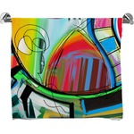 Abstract Eye Painting Full Print Bath Towel