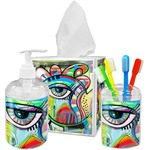 Abstract Eye Painting Acrylic Bathroom Accessories Set