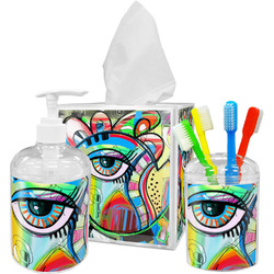 Abstract Eye Painting Bathroom Accessories Set