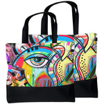 Abstract Eye Painting Beach Tote Bag