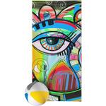 Abstract Eye Painting Beach Towel