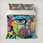 Abstract Eye Painting Duvet Cover