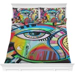 Abstract Eye Painting Comforters