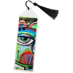 Abstract Eye Painting Book Mark w/Tassel