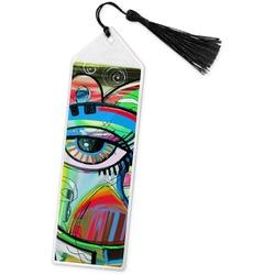 Abstract Eye Painting Book Mark w/Tassel