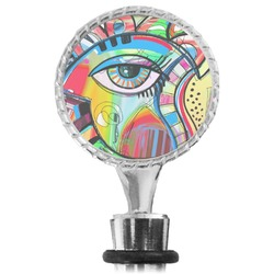 Abstract Eye Painting Wine Bottle Stopper