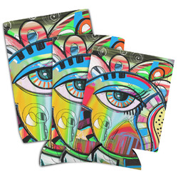 Abstract Eye Painting Can Cooler