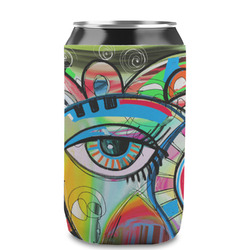 Abstract Eye Painting Can Sleeve (12 oz)