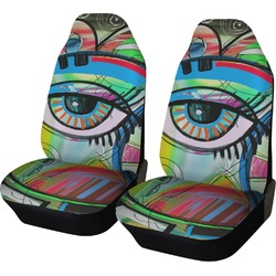 Abstract Eye Painting Car Seat Covers (Set of Two)