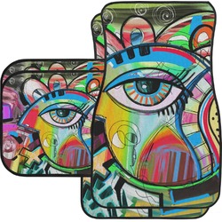 Abstract Eye Painting Car Floor Mats Set - 2 Front & 2 Back