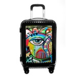 Abstract Eye Painting Carry On Hard Shell Suitcase