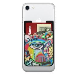 Abstract Eye Painting 2-in-1 Cell Phone Credit Card Holder & Screen Cleaner