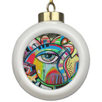 Abstract Eye Painting Ceramic Ball Ornament