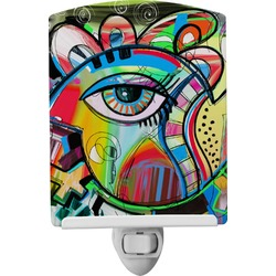 Abstract Eye Painting Ceramic Night Light
