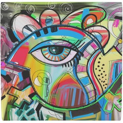 Abstract Eye Painting Ceramic Tile Hot Pad