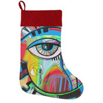 Abstract Eye Painting Holiday Stocking