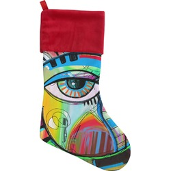 Abstract Eye Painting Christmas Stocking