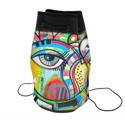 Abstract Eye Painting Neoprene Drawstring Backpack