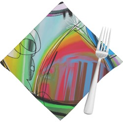 Abstract Eye Painting Napkins (Set of 4)