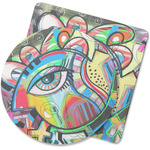 Abstract Eye Painting Rubber Backed Coaster
