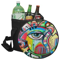 Abstract Eye Painting Collapsible Cooler & Seat