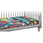Abstract Eye Painting Crib Fitted Sheet