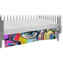 Abstract Eye Painting Crib Skirt