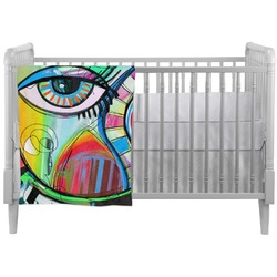 Abstract Eye Painting Crib Comforter / Quilt