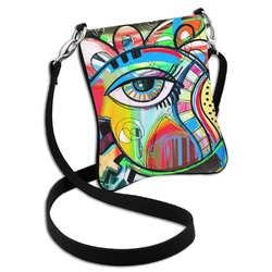 Abstract Eye Painting Cross Body Bag - 2 Sizes