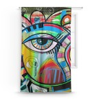 Abstract Eye Painting Curtain