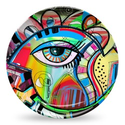 Abstract Eye Painting Microwave Safe Plastic Plate - Composite Polymer